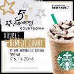 Starbucks Card 5th Year Anniversary Rewards!