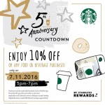 Starbucks Anniversary Rewards Continue!