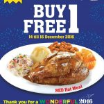 Kenny Rogers Roasters Red Hot Meal Buy 1 FREE 1 Promotion