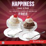 Secret Recipe Ice Cream Buy 1 FREE 1 Promotion