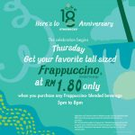 Starbucks TALL sized Frappuccino at only RM1.80 Promotion