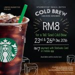Starbucks Cold Brew at only RM7 Promotion
