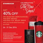 Starbucks Merchandise, Holiday Bean, Holidays VIA Ready Brew at 40% Discount