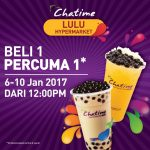 Chatime Buy 1 FREE 1 Promotion 2017
