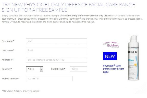 Physiogel Daily Defence Protective Day Cream Sample Giveaway