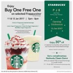 Starbucks PJ Buy 1 FREE 1 Frappuccino Promotion