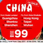 AirAsia Promo 2018: Fly to Hong Kong, Taipei, Wuhan, Guangzhou, Shantou, Shenzhen from only RM99