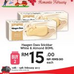 Haagen Dazs Stickbar White & Almond for only RM7.50 Promotion