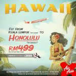 Air Asia Fly to Honolulu from only RM499