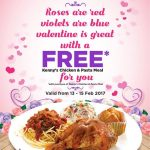 Kenny Rogers REOATERS Kenny's Chicken & Pasta Meal Buy 1 FREE 1 Promotion