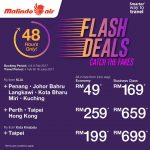 Malindo Air Fly to Taipei, Hong Kong, Perth from only RM199
