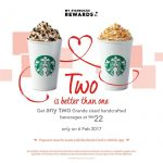 Starbucks Grande Sized Handcrafted Beverage for only RM11 Promotion