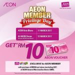 AEON Member Privilage Day at ALL Outlets!