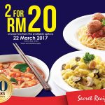 Secret Recipe Dishes at only RM10 Promotion