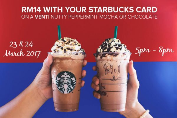 Starbucks Venti Nutty Peppermint Mocha OR Nutty Peppermint Chocolate for only RM14