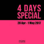 Padini Concept Store 4 Days Special Sale Apr 2017