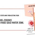 Bio Essence 24K Bio-Gold Rose Gold Water Sample Giveaway