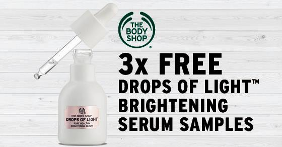 The Body Shop Drops of Light Brightening Serum Samples Giveaway
