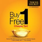 Tokyo Secret Cheese Tart Buy 1 FREE 1 Promo at ALL Outlets