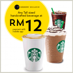Starbucks Handcrafted Beverage for only RM12 Promotion