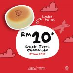 Uncle Tetsu Cheesecake for only RM10 Promotion