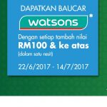 FREE Watsons RM10 Shopping Voucher Giveaway