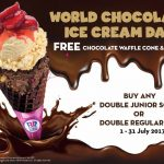 Baskin Robbins Chocolate Waffle Cone & Topping Giveaway