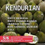 Selangor Food Mega Festival: Enjoy Durian Buffet from only RM19 – 榴莲吃到饱只要RM19!
