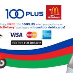 McDelivery FREE 100PLUS (1.5L) Giveaway