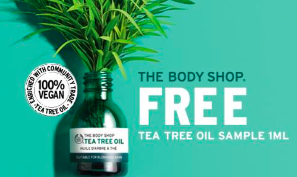 The Body Shop Tea Tree Oil Sample Giveaway