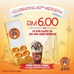 J.CO Glazzy Donut only RM1, ALL Beverage at RM6 Promo 甜甜圈只要RM1,所有饮料RM6促销!