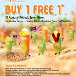 Juice Works Buy 1 FREE 1 Promotion 果汁买一送一促销!