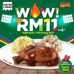 Kenny Rogers ROASTERS Spicy BBQ Meal for only RM11 Promotion 香辣烤鸡餐只要RM11促销!