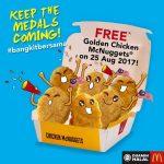FREE Golden Chicken McNuggets 请你吃免费Chicken McNuggets!