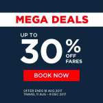 Malaysia Airlines Mega Deals: Enjoy Discount up to 30% 马航机位折扣高达30%!
