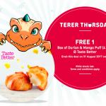 Taste Better Durian & Mango Puff Giveaway 请你吃免费榴莲和芒果泡芙!