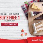Secret Recipe Buy 3 FREE 1 Promo at ALL Outlets 蛋糕买三送一促销,所有分行都有哦!
