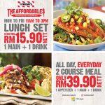 TGI Fridays Lunch Set (Main + Drink) from only RM15.90 Nett 午餐套餐从RM15.90起!