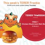 FREE Wendy's Chicken Mushroom Melt Burger Giveaway 请你吃免费汉堡!