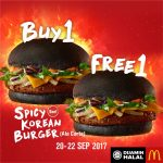 McDonald's Spicy Korean Burger Buy 1 FREE 1 Promo 汉堡买一送一促销!