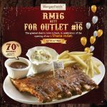 Morganfield's Signature Sticky Bones Spare Ribs for only RM16 一份肋骨排只要RM16促销!