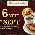 Morganfield's 1/2 Slab Signature Sticky Bones Spare Ribs for only RM16 一份肋骨排只要RM16促销!