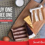 Secret Recipe Cake Buy 1 FREE 1 Promo 蛋糕买一送一促销!