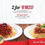 Secret Recipe Main Course for only RM10 主食只要RM10促销!