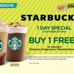 Starbucks Buy 1 FREE 1 Promotion 星巴克饮料买一送一促销!