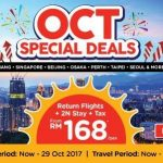 Penang, Singapore, Beijing, Osaka, Perth, Taipei, Seoul: Return Flights + 2N stay + Tax from only RM168 per pax