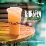 Chatime Drinks at 50% Discount 日出茶太饮料50%折扣!