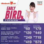 Malindo Air Early Bird Promo 2018机位大促销!