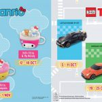 McDonald's Hello Sanrio and Tomica Happy Meal Toys Giveaway 免费麦当劳Hello Sanrio和Tomica玩具赠品!
