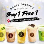 REGIUSTEABuy 1Free 1 Promo for ALL Drink正宗芝士冷泡茶买一送一促销!